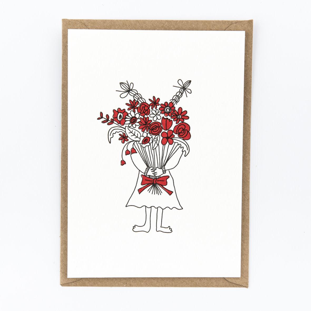 Kaartje 'flower girl'-1