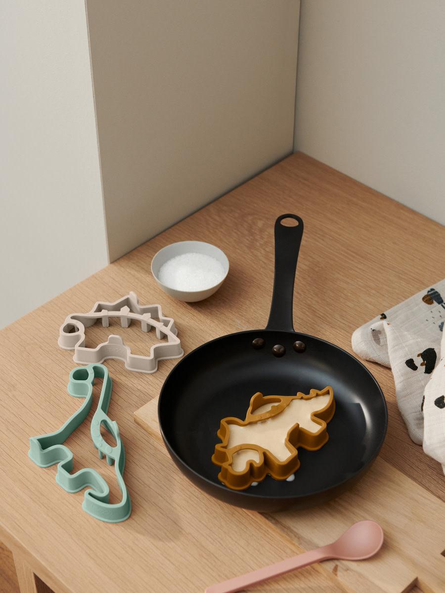 Karina pancake shape set dino golden caramel multi mix-3