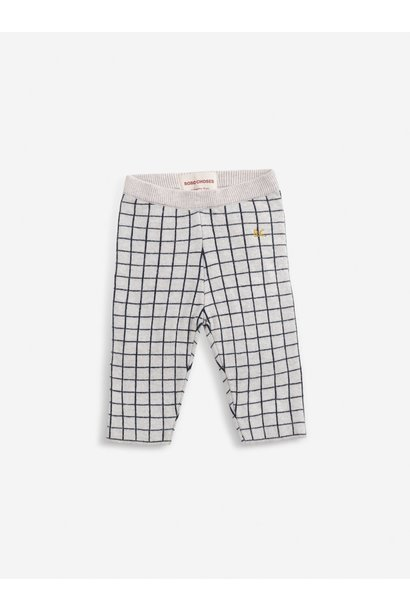 Checkered knitted pants