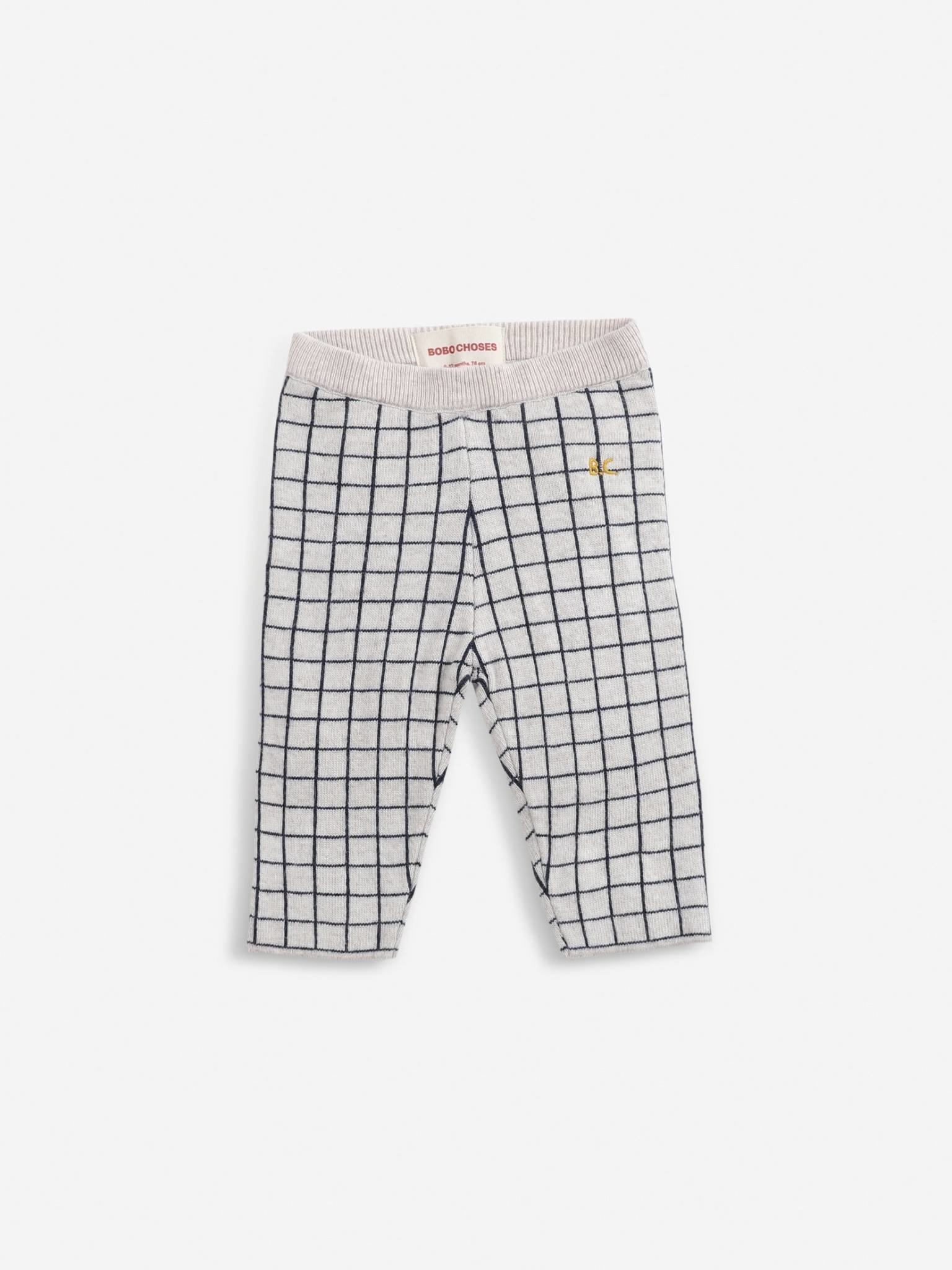 Checkered knitted pants-1