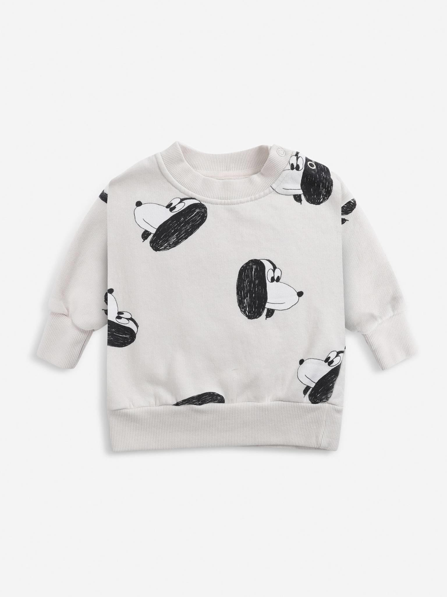 Doggie all over baby sweatshirt-1