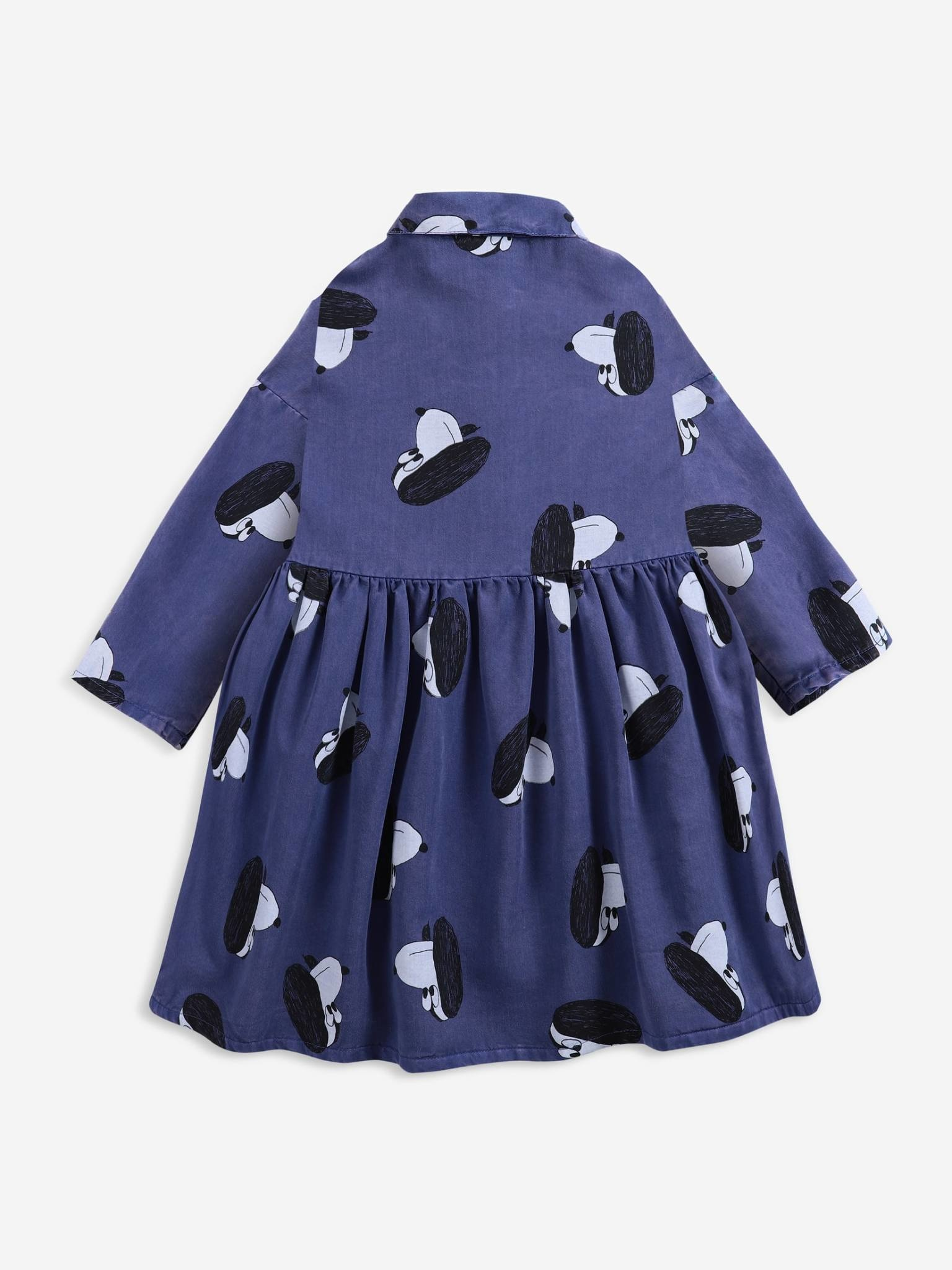 Doggie all over woven buttoned dress-2