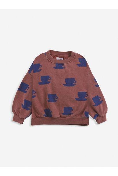 Cup of tea all over sweatshirt