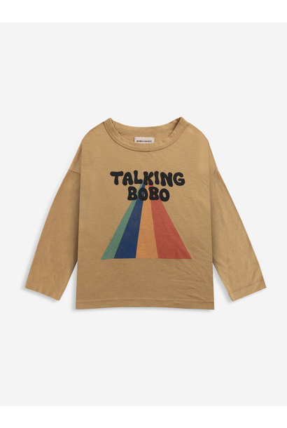 Talking bobo rainbow long sleeve t-shirt