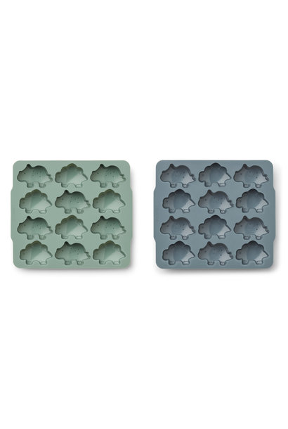 Sonny ice cube tray peppermint/whale blue - 2 pack