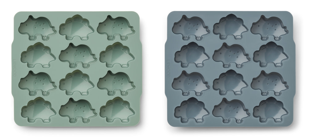 Sonny ice cube tray peppermint/whale blue - 2 pack-1