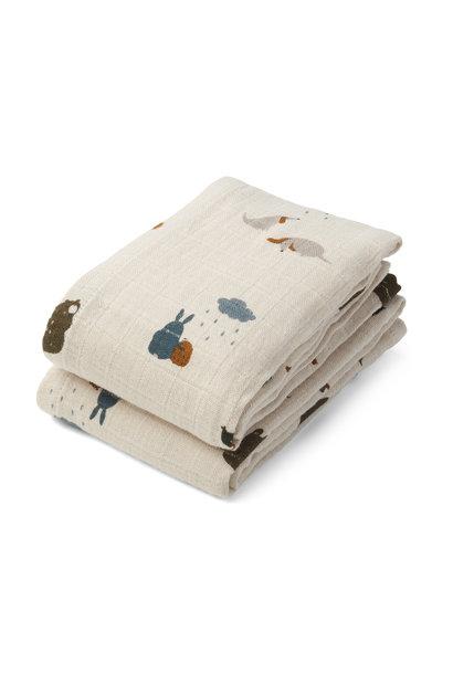 Lewis muslin cloth friendship sandy mix - 2 pack