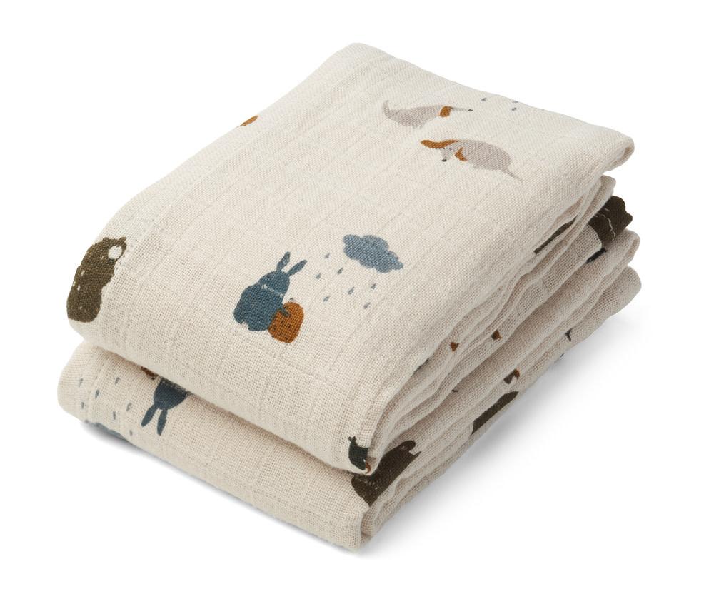 Lewis muslin cloth friendship sandy mix - 2 pack-1
