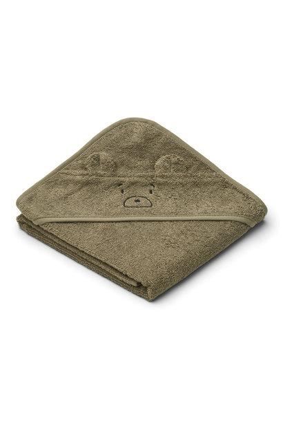 Albert hooded towel mr bear khaki