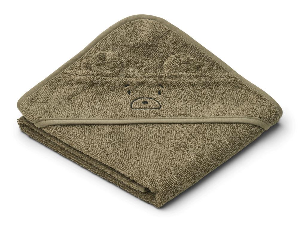 Albert hooded towel mr bear khaki-1