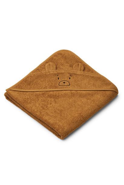 Augusta hooded towel mr bear golden caramel