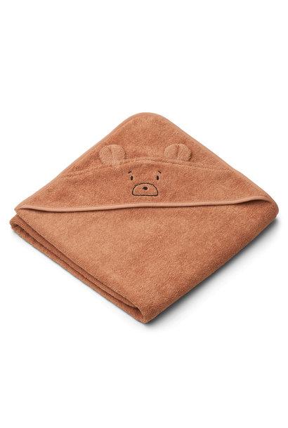 Augusta hooded towel mr bear tuscany rose