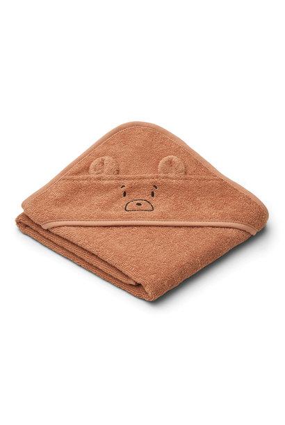 Albert hooded towel mr bear tuscany rose