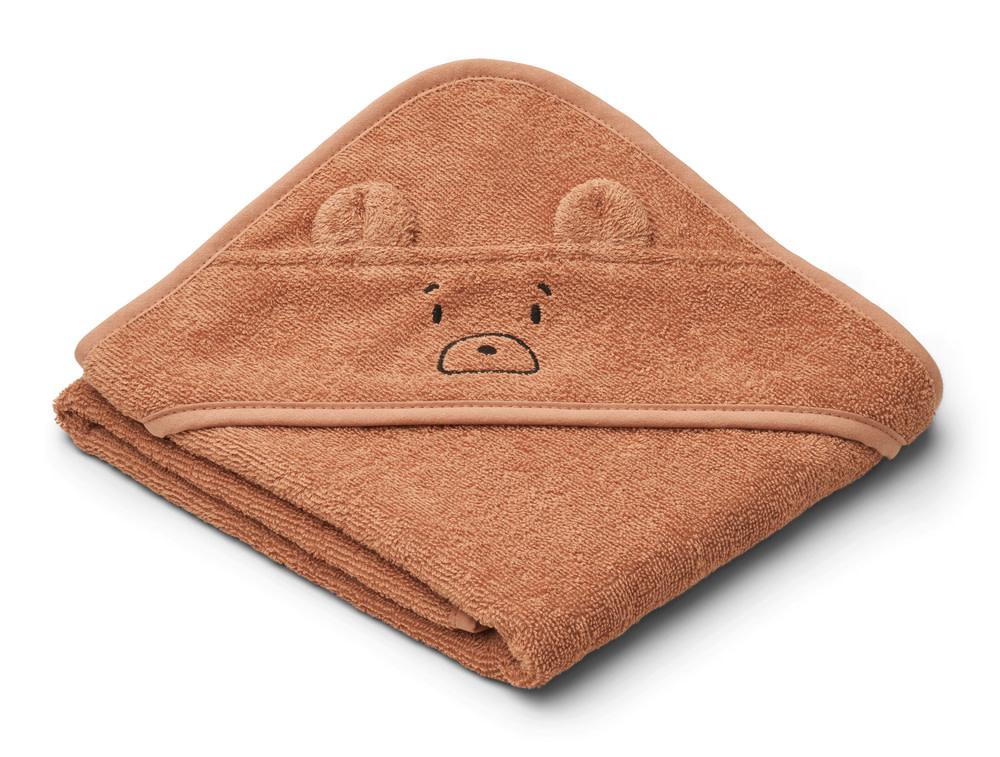 Albert hooded towel mr bear tuscany rose-1