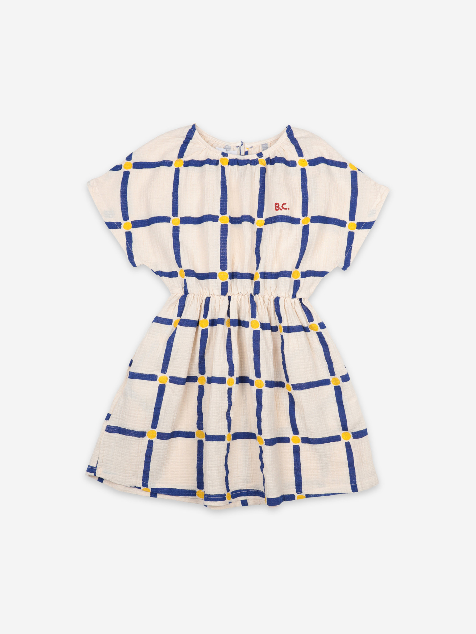 Cube all over woven dress-4