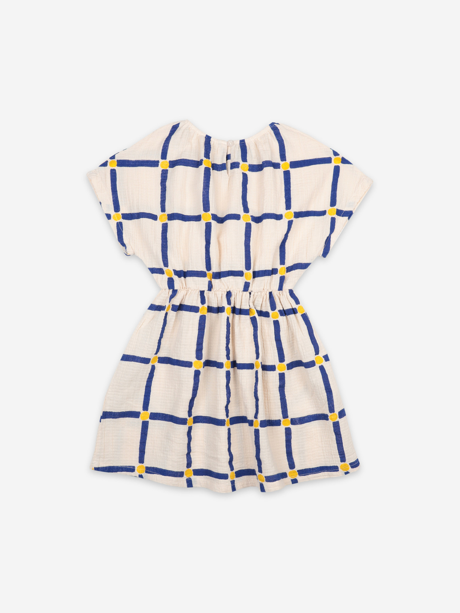 Cube all over woven dress-5