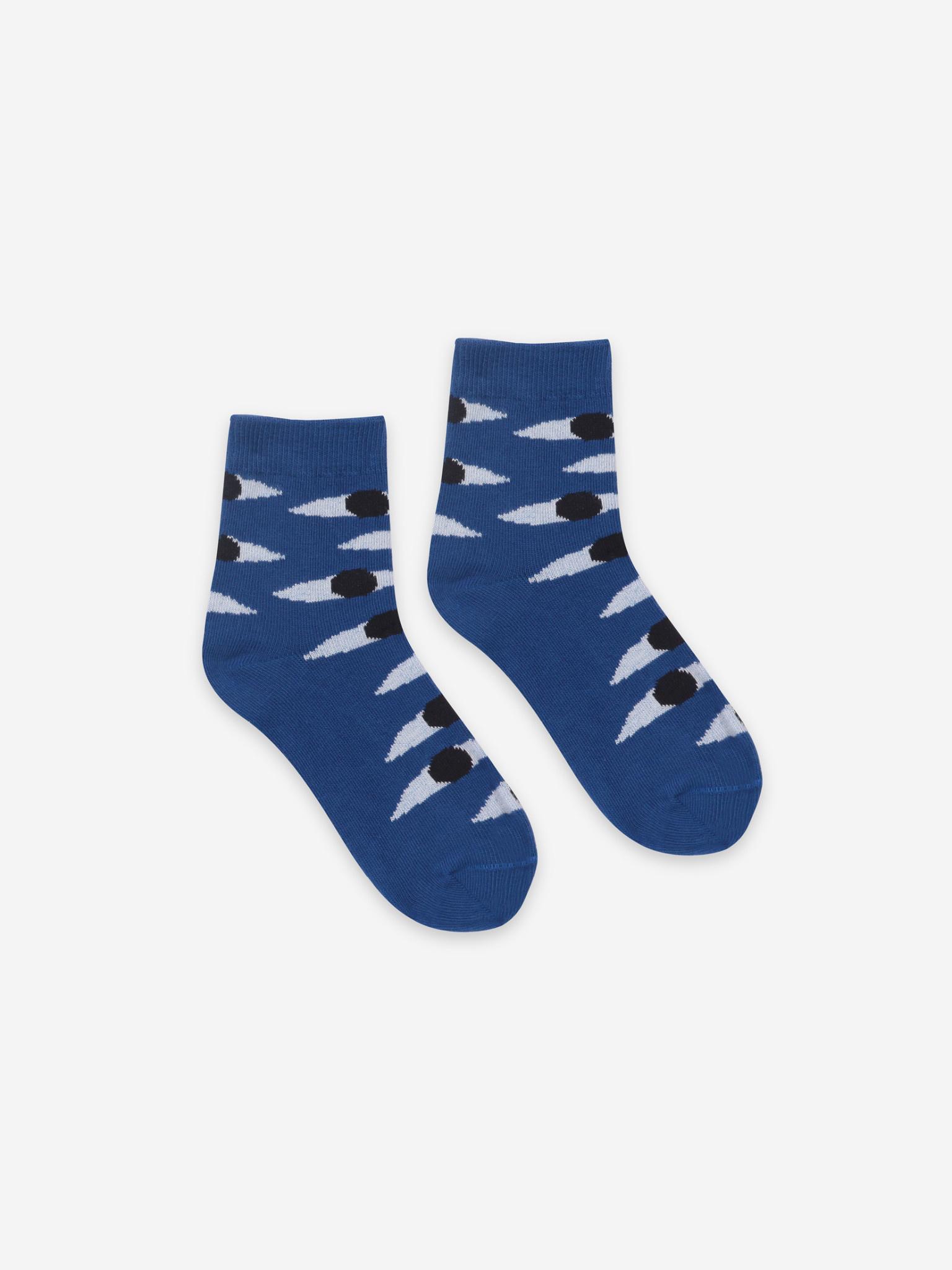 Eyes blue short socks-2