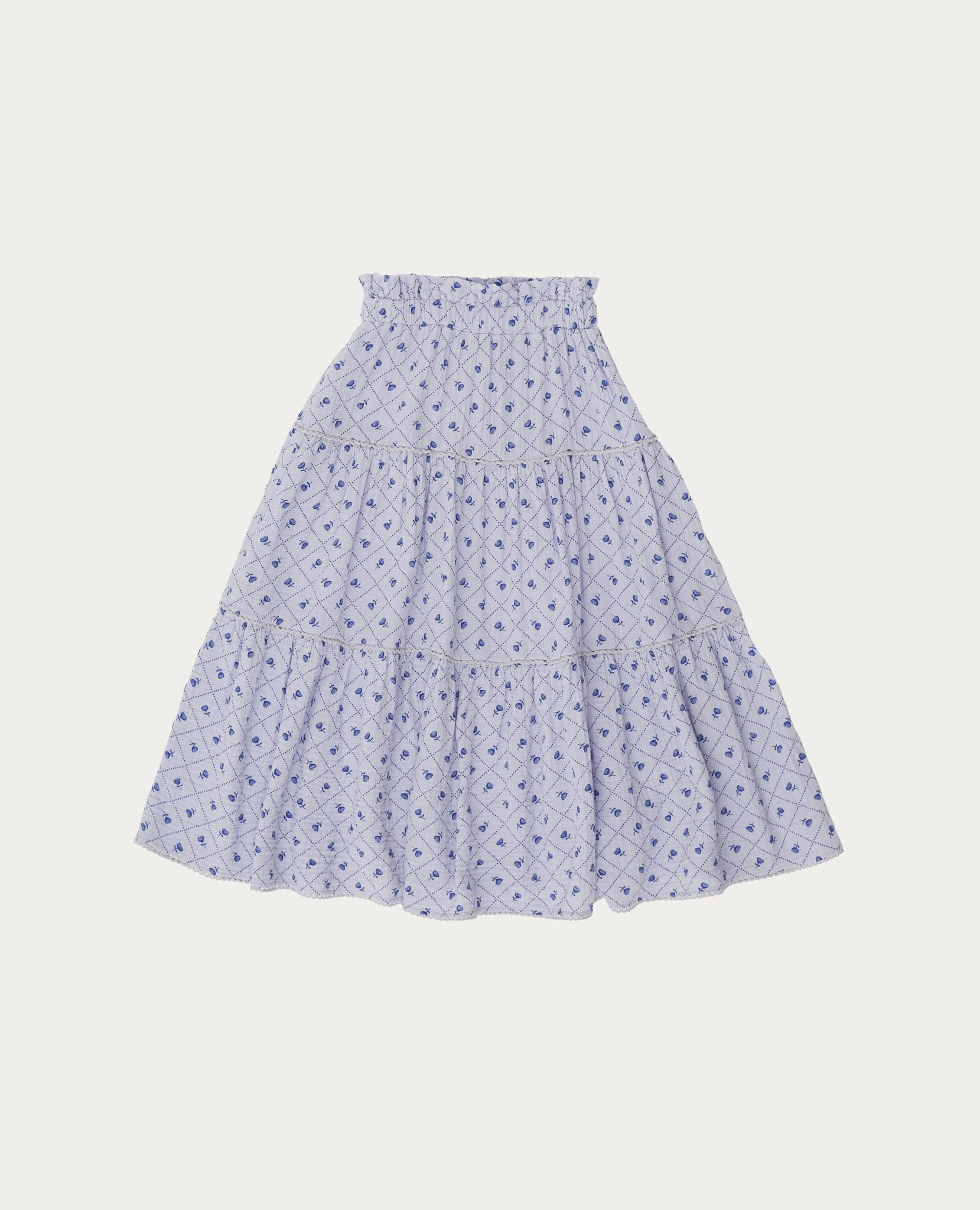 Checks and flowers skirt-3