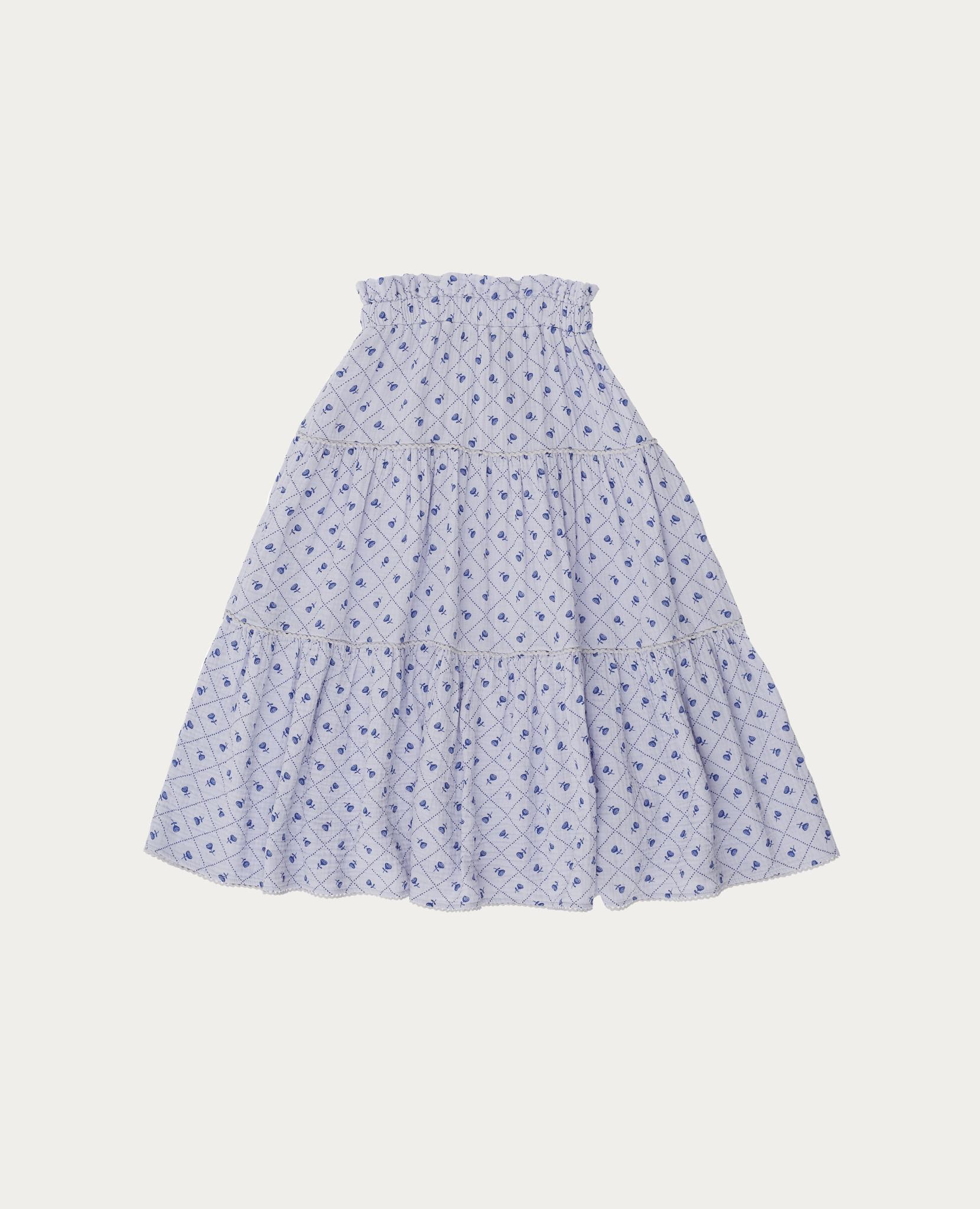 Checks and flowers skirt-4