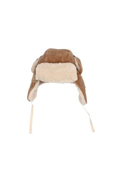Knit velour hat muscade