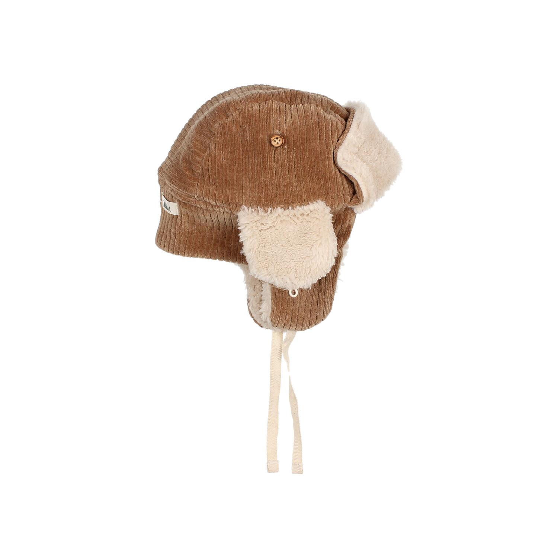 Knit velour hat muscade-4