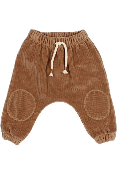 Knit velour pants muscade