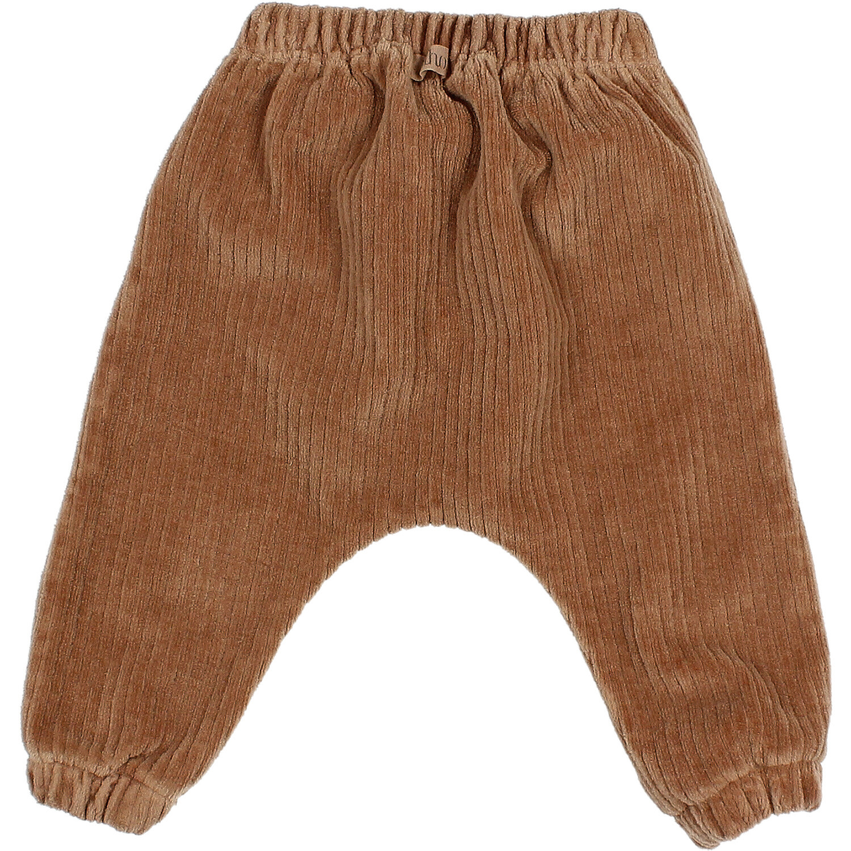 Knit velour pants muscade-2