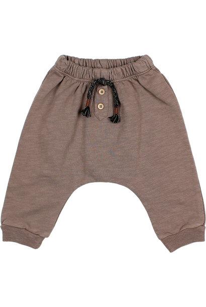 Fleece pants taupe