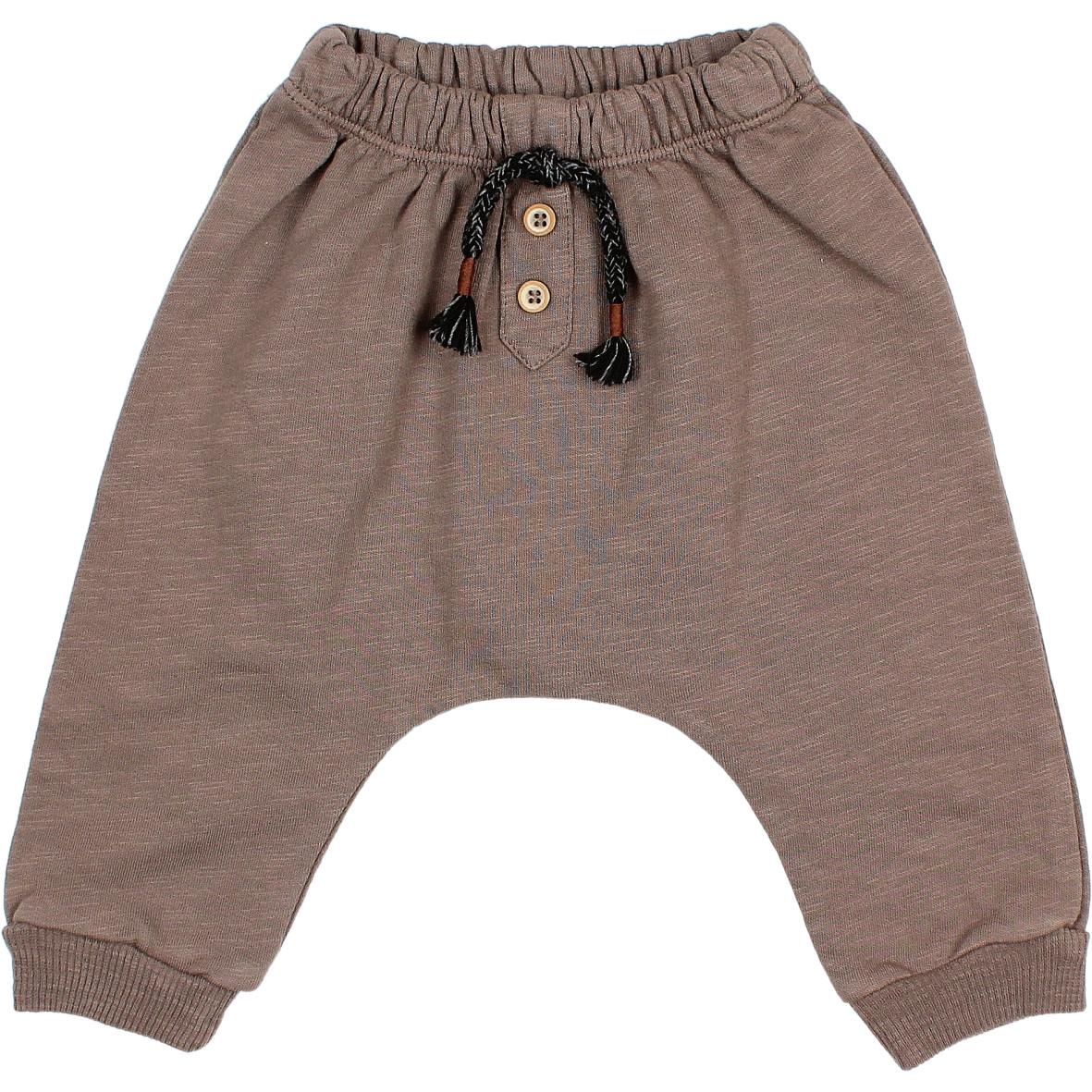 Fleece pants taupe-1