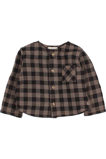 Vichy shirt taupe