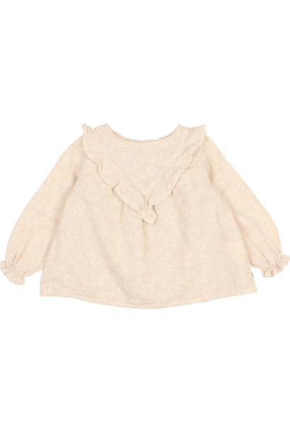 Floral jacquard blouse stone