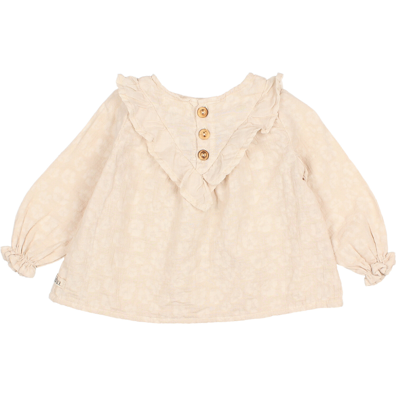 Floral jacquard blouse stone-2