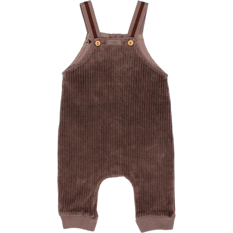 Knit velour jumpsuit taupe-1