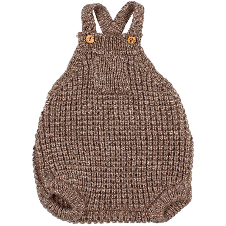 Soft knit romper wood-1