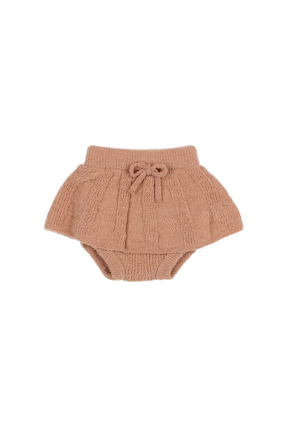 Fine knit culotte skirt antic rose