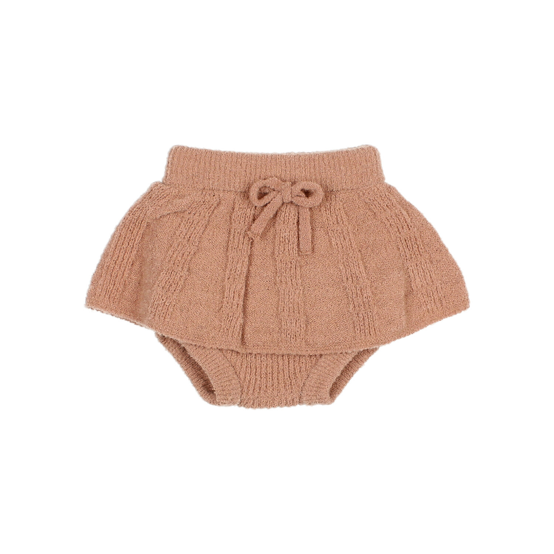 Fine knit culotte skirt antic rose-1