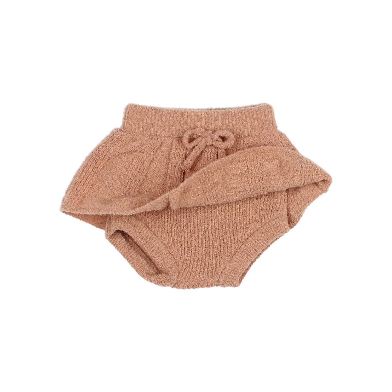 Fine knit culotte skirt antic rose-2