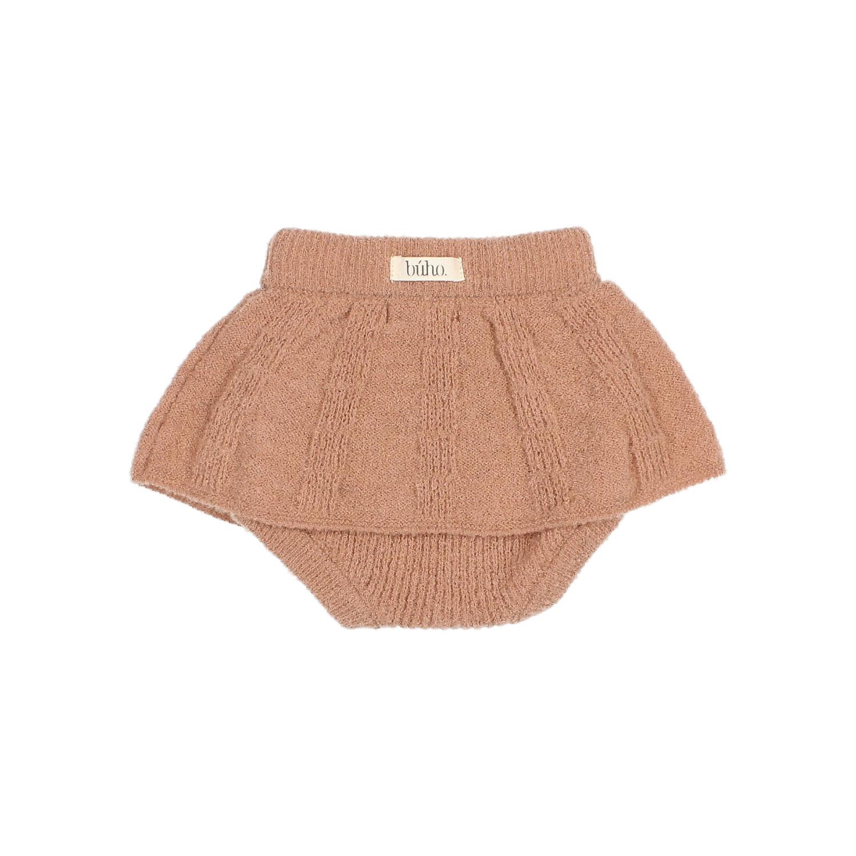 Fine knit culotte skirt antic rose-3