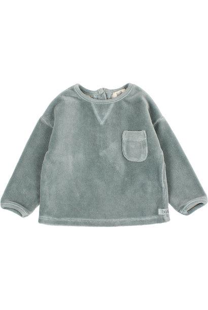 Velvet sweatshirt storm grey