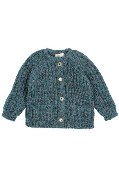 Ribbed knit cardigan north sea