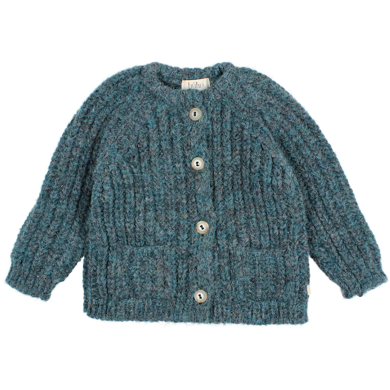 Ribbed knit cardigan north sea-1