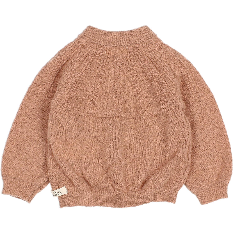 Fine knit cardigan antic rose-2
