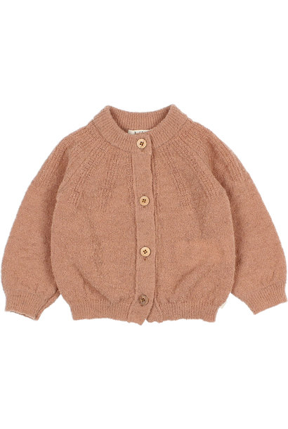Fine knit cardigan antic rose