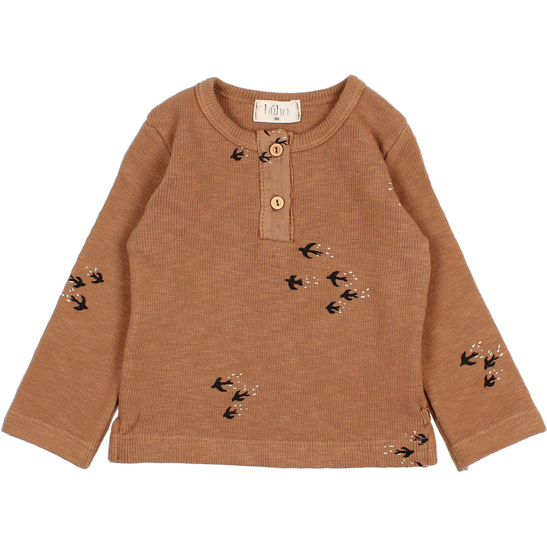 Birds t-shirt muscade-1