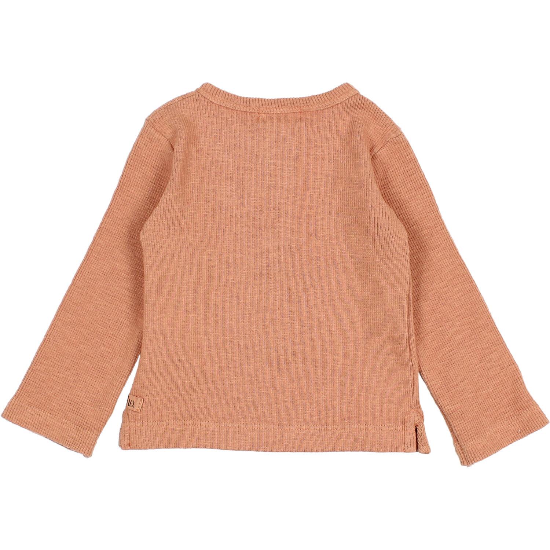 Rib flamé t-shirt hazel-3