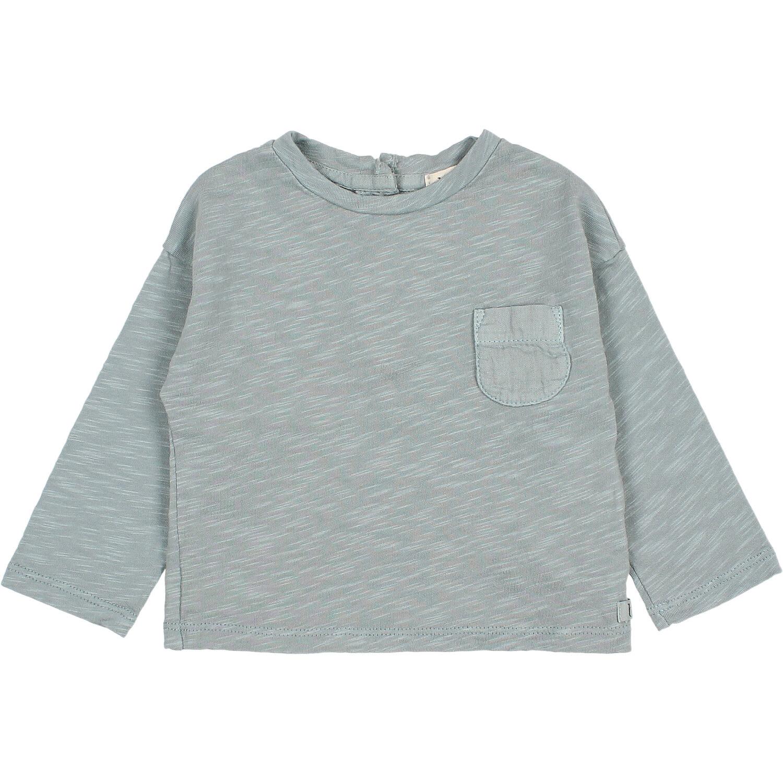 Pocket t-shirt storm grey baby-1