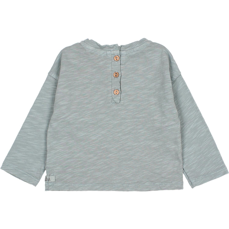 Pocket t-shirt storm grey baby-2