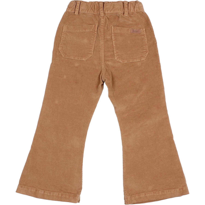Flared velvet pants muscade-2