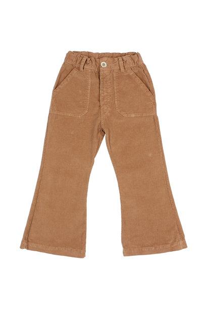 Flared velvet pants muscade