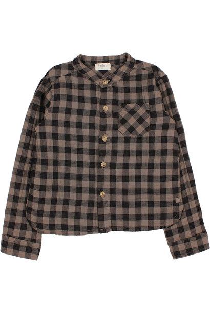 Vichy pocket shirt taupe